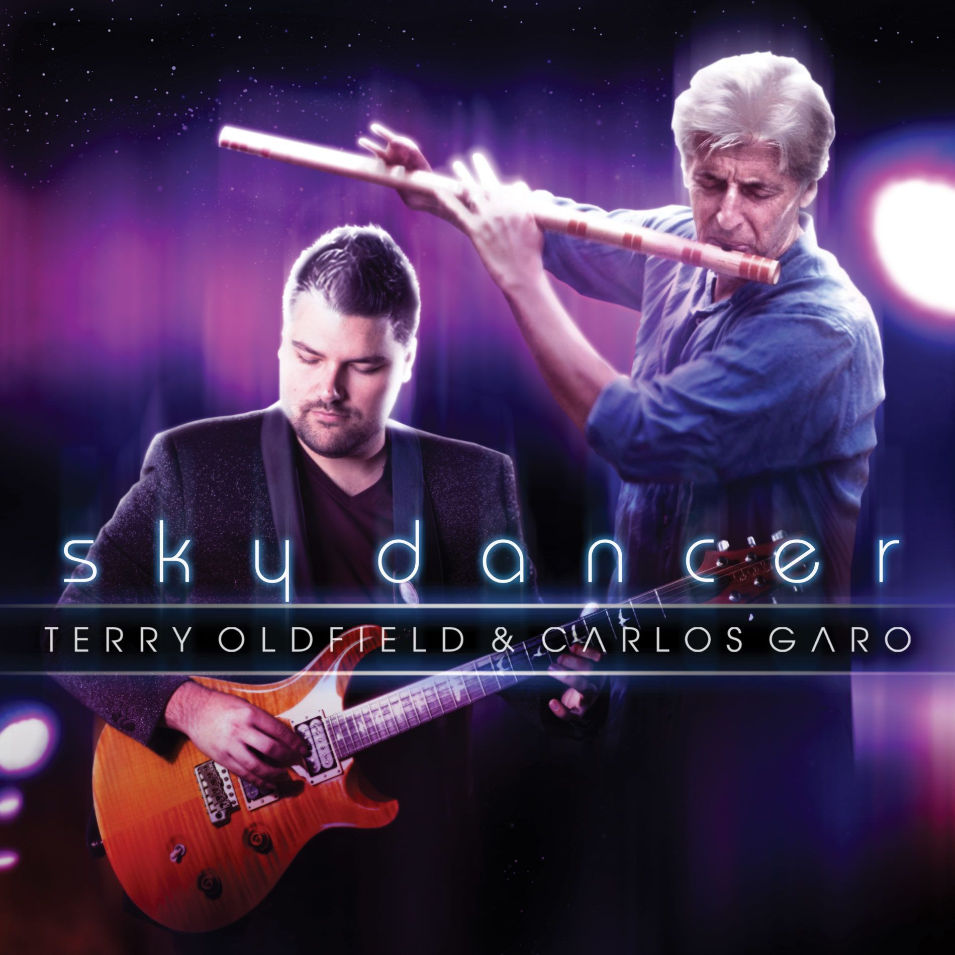 Terry Oldfield y Carlos Garo. Portada nuevo CD 2017